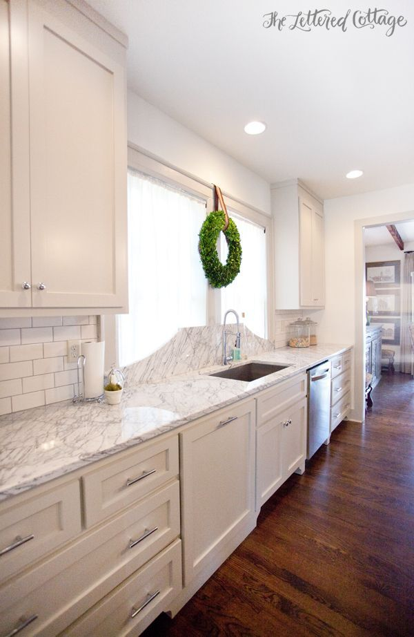 Revere Pewter Cabinets | Marble Countertop | KitchThe Cabinets And Trim Are  Painted Revere Pewter By Benjamin Moore, And The Ceiling And Walls Are  White ...