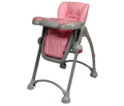 Chaise Haute Telescopique Bebe Tex Gris Et Rose Chaise Haute Chaise Gris