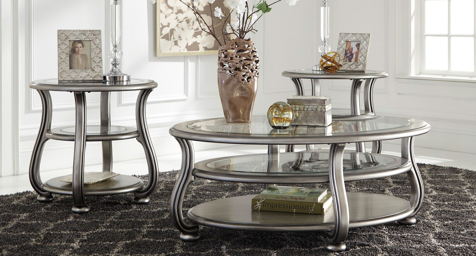 Coralayne Occasional Table Set Occasional Table Ashley Furniture Sale Traditional Interior Design