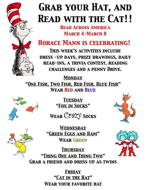 560c9a9e read across america daily activities | ... documents regarding our Read  Across America Week student activities: