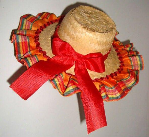 Como decorar chapéu de palha para Festa Junina 001  c447bbb42d1