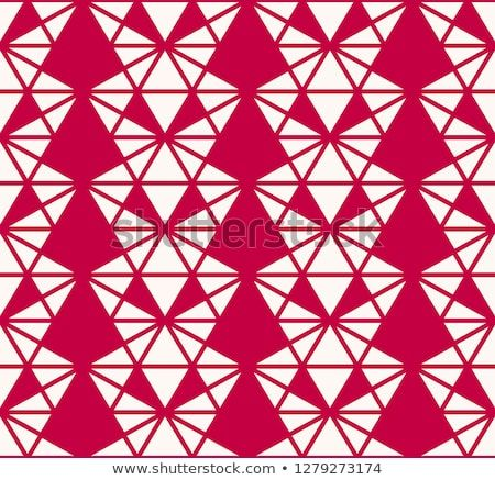 Vector geometric triangles seamless pattern elegant red and white background texture abstract ornament with also rh pinterest