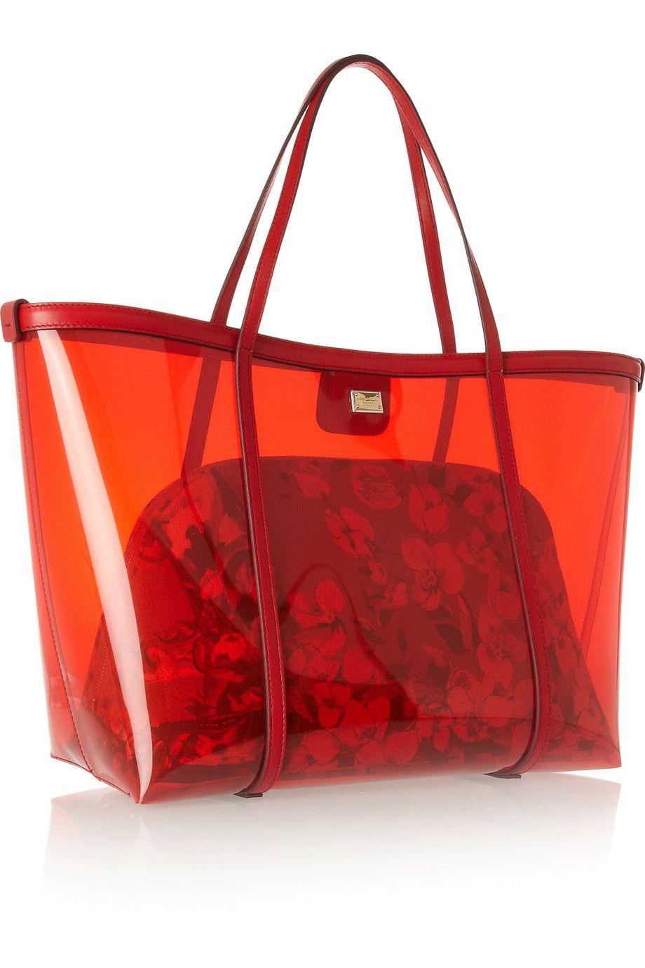 Dolce   Gabbana   Escape leather-trimmed PVC tote   NET-A-PORTER.COM ... 310667e2f7