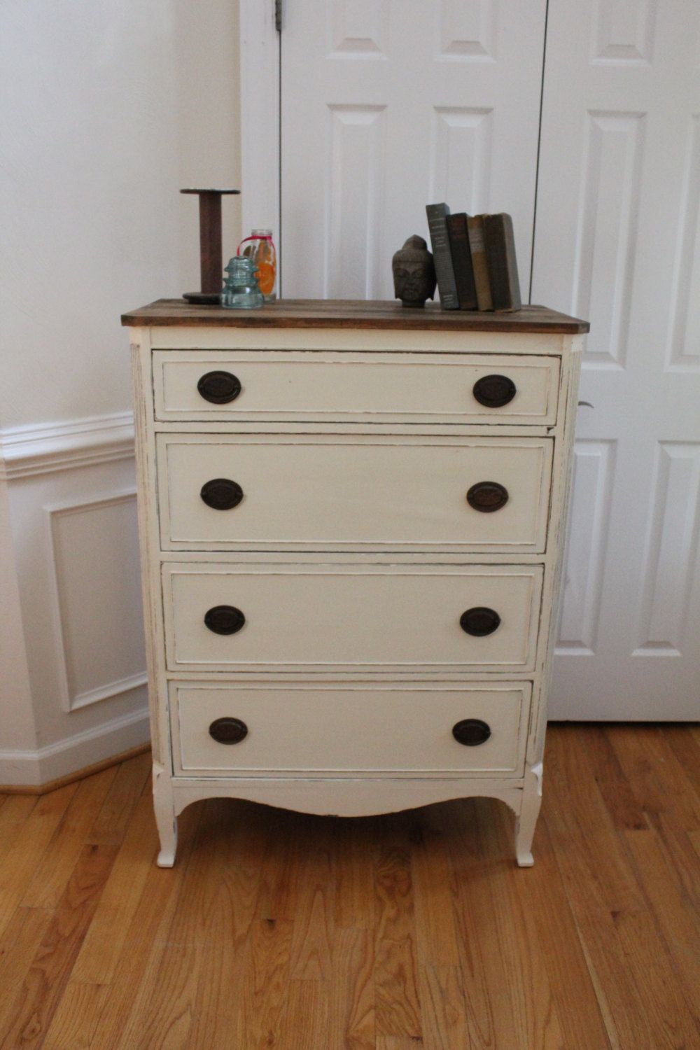 Vintage Chest Of Drawers Annie Sloan Chalk Paint Country Grey Dresser Bedroom Stained Butcher Block Top Vintage Chest Of Drawers Chalk Furniture Redo Furniture [ 1500 x 1000 Pixel ]