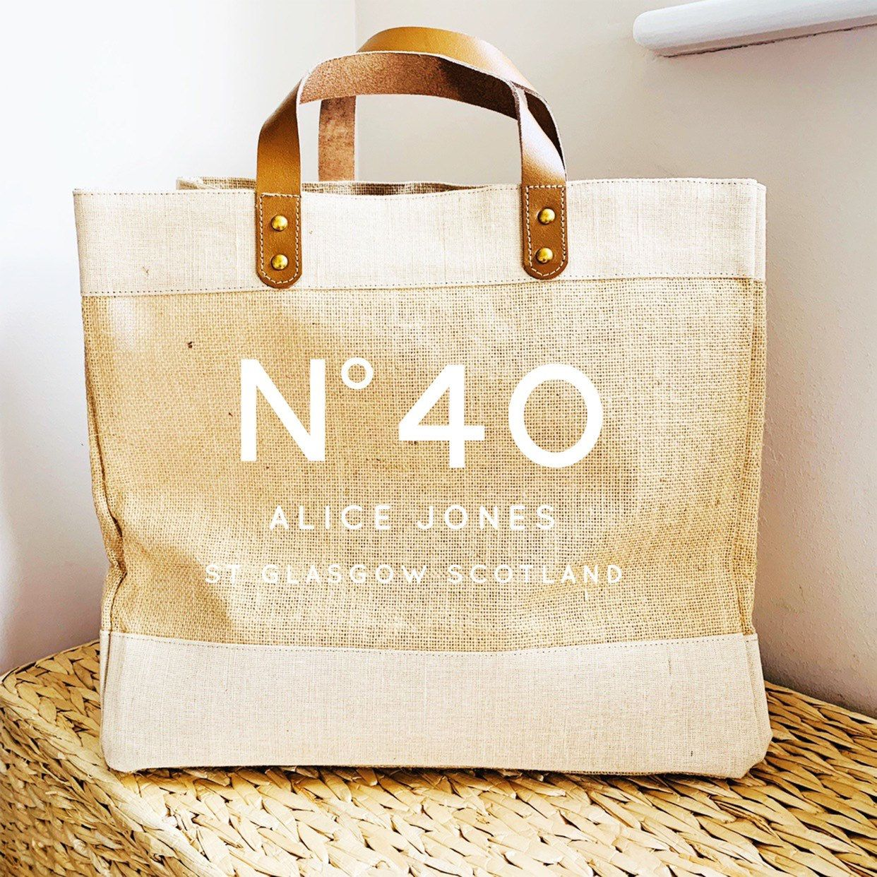 Personalised Beach//Shopping Bag