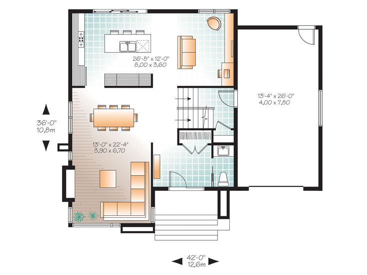 1st Floor Plan House Plans Contemporary House Plans