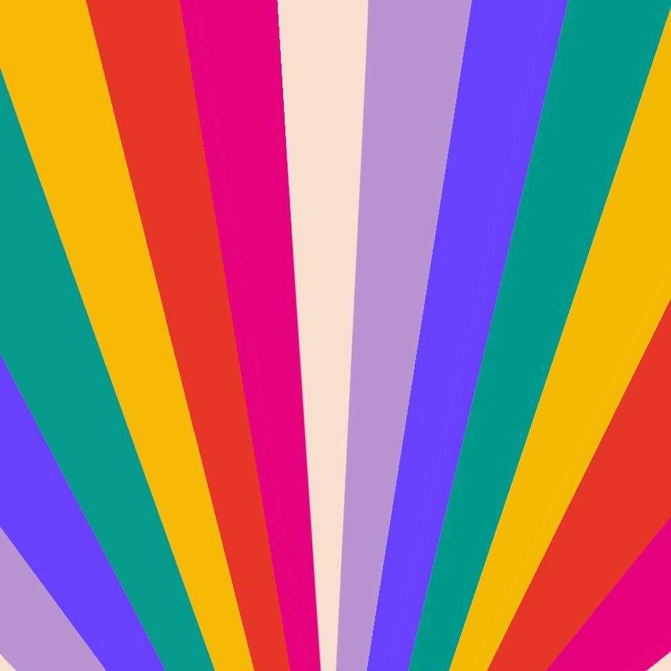 Illustrator Patterndesigner Muchable Nl Instagram Rainbow Retro Pattern Illustration Retro Background Retro Prints Birthday Photo Background