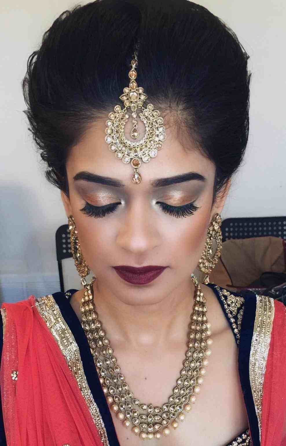 punjabi bridal hairstyle for round face   hair stylist and