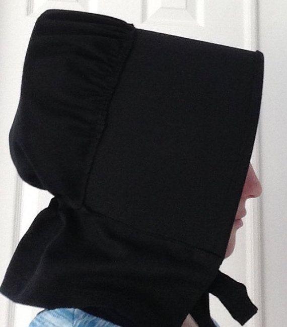 Black Bonnet, Amish Bonnet, Mennonite Bonnet, Quaker Bonnet | Amish ...