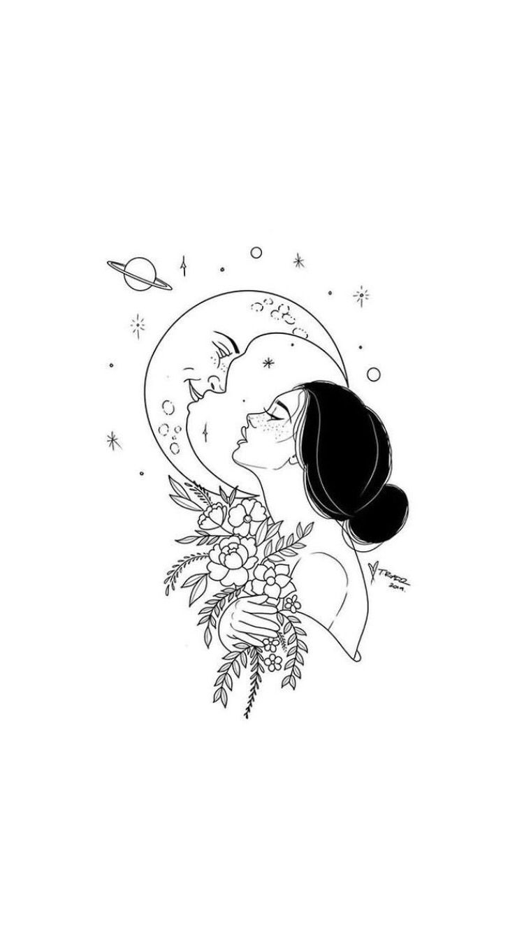 #Moon #moonchild #moonart #girl
