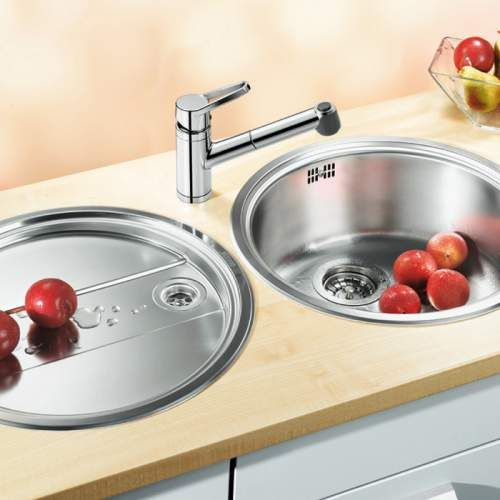 Blanco RONDO SET Inset Round Bowl Kitchen Sink and Drainer ...