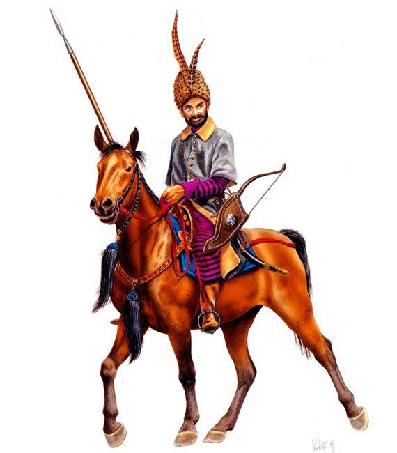 """Wallachian Cavalryman, c. 1575"", Velimir Vuksic"