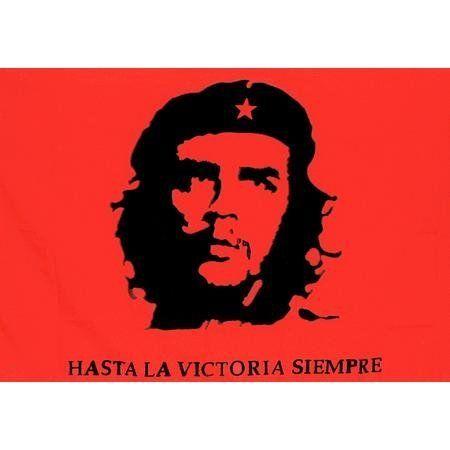 Che Guevara Fabric Flag By Eagle Emblem 4 50 3x5 In Stock Fabric Flag Red Fabric Flag With The Image Of Che Guevara Fabric Flags Eagle Emblems Red Fabric