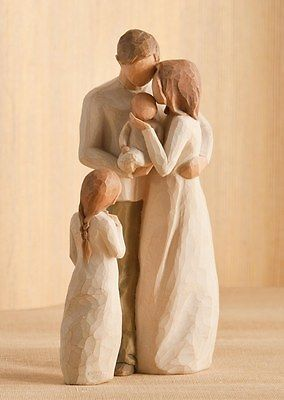 Willow Tree Mother Father With Baby Daughter Figurine Gift Set 23096 Willow Tree Figurines Willow Tree Family Willow Tree