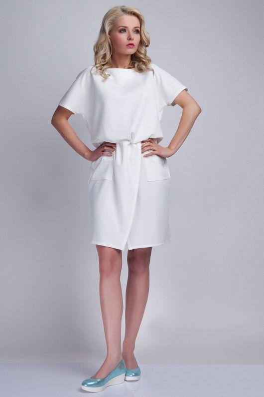 0a264aa5 Sukienka, SUK117 biały | October | Dresses, White dress, Fashion