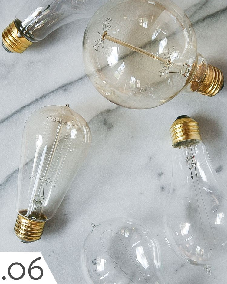 Collection Of Edison Bulbs And Led Vintage Looking Lightbulbs