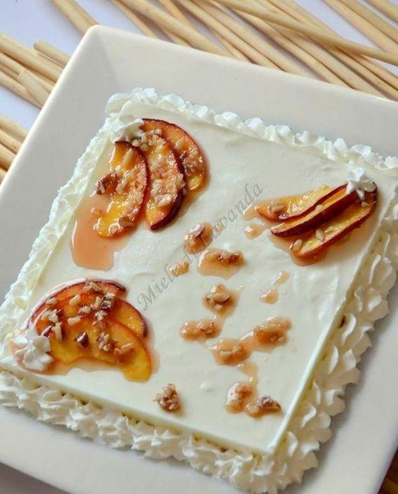 Ricetta torta con frutta caramellata