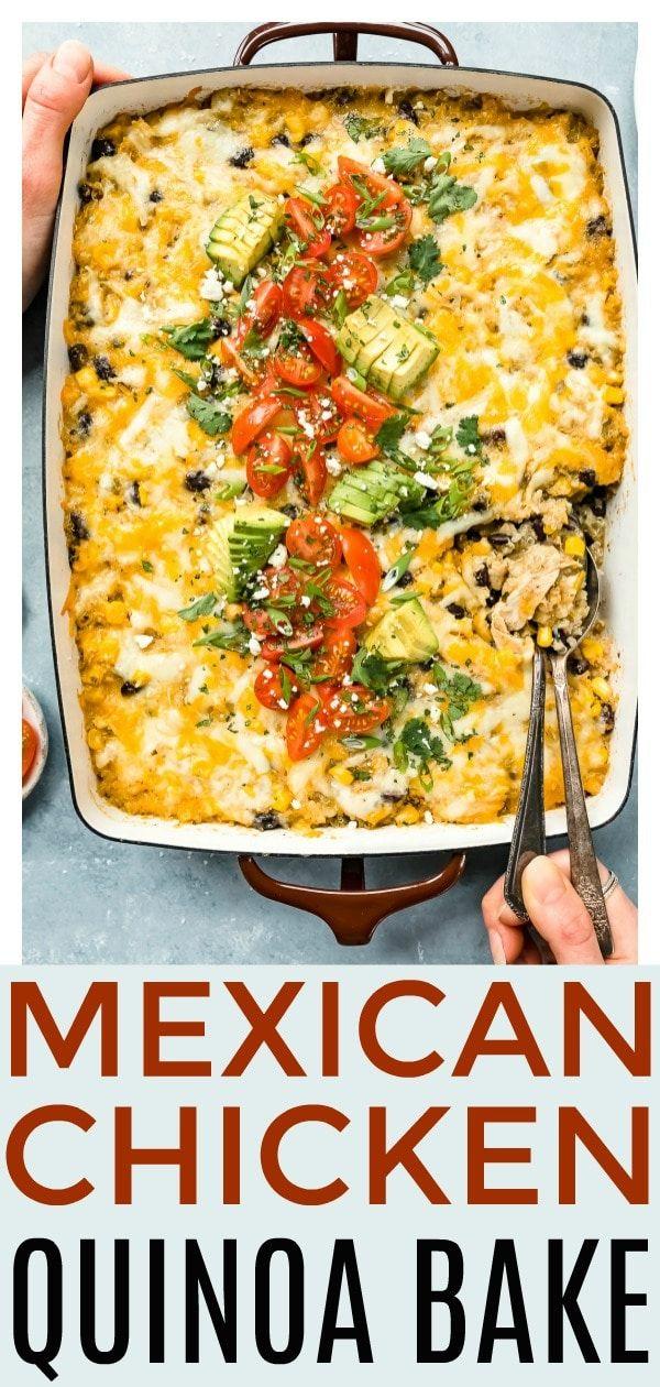 Photo of Easy Mexican Chicken Quinoa Casserole