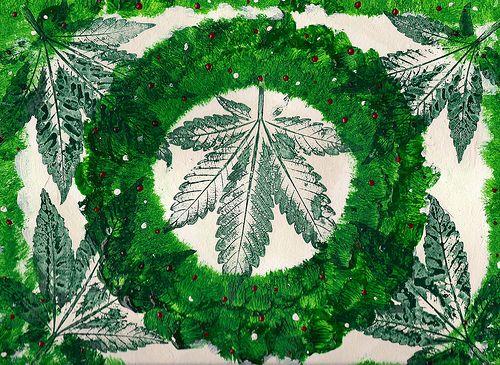 Cannabis Country Christmas Garland - 2013