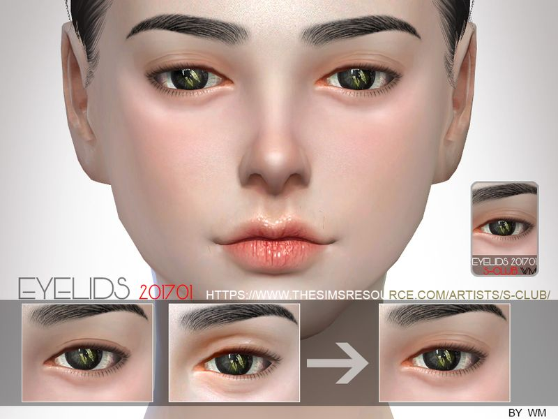 Eyelid to make the sims's eyes has more details, hope you like
