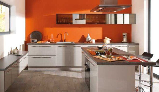 La couleur orange pour réveiller votre cuisine | Couleurs oranges ...