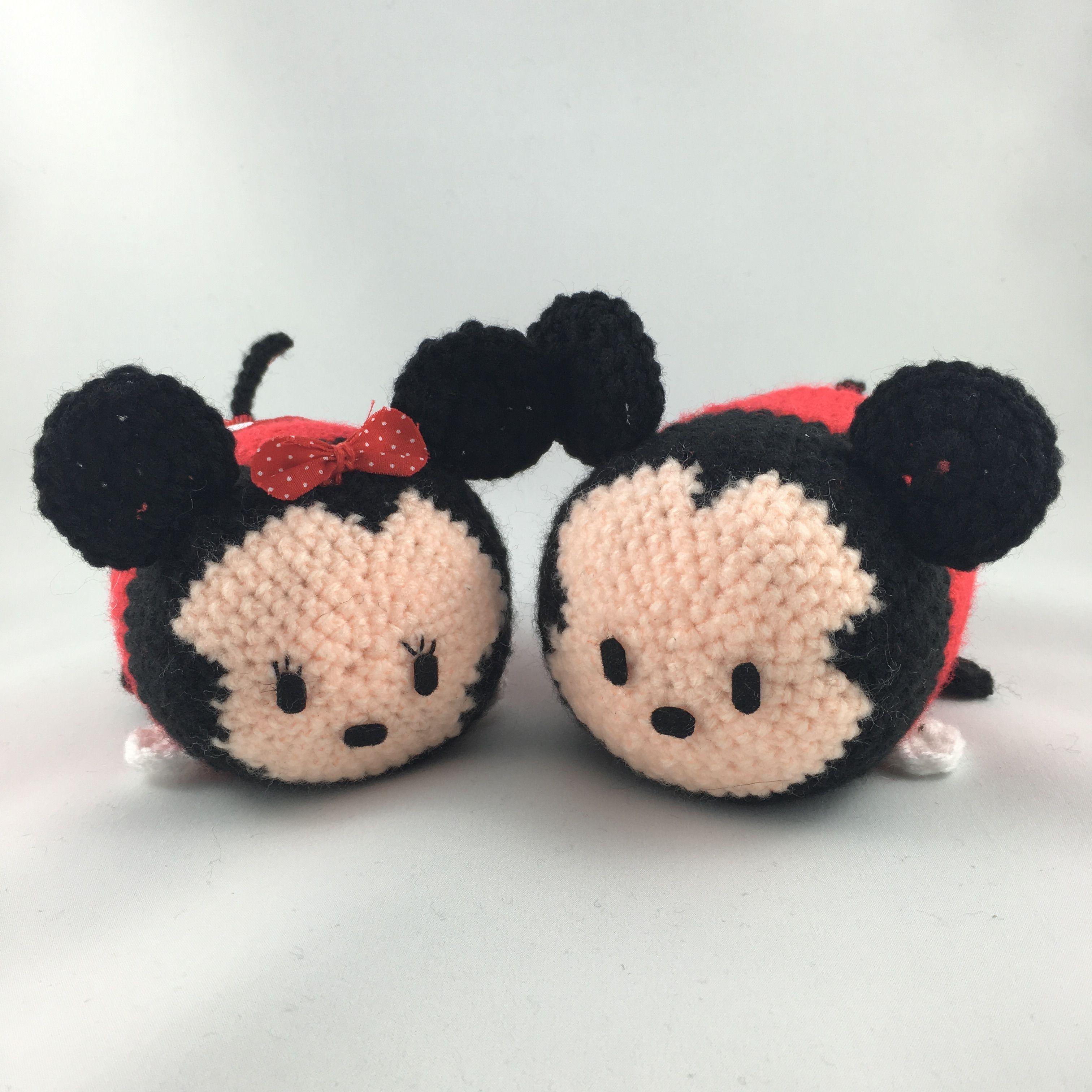 Minnie And Mickey Mouse Tsum Tsum Amigurumi Crochet Disney
