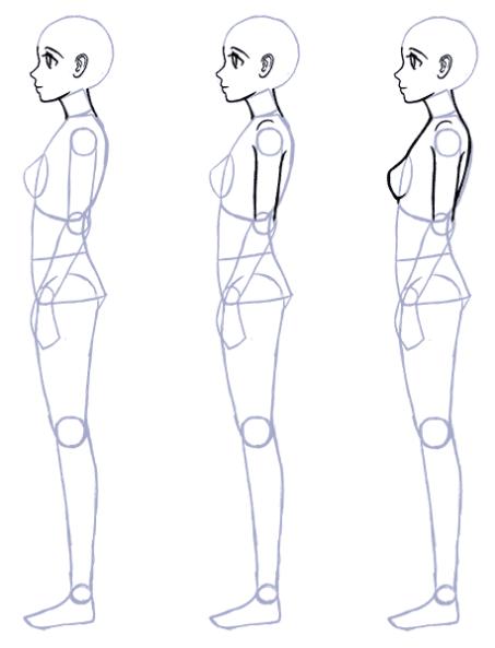 How To Draw Anime Side View Full Body Profile Manga Tuts Desenhando Esbocos Esbocos De Pessoas Desenho De Pessoas