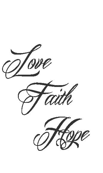 Faith Hope Love Tattoo For Men