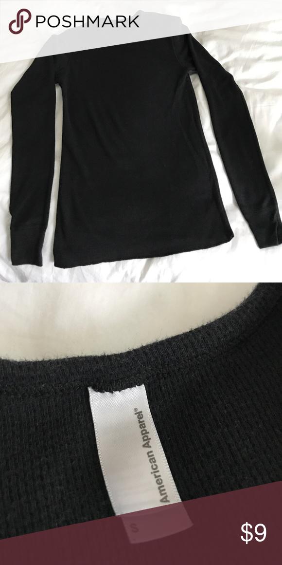 American Apparel Black Long Sleeve Thermal Great condition, like new. plain black. American Apparel Tops Tees - Long Sleeve