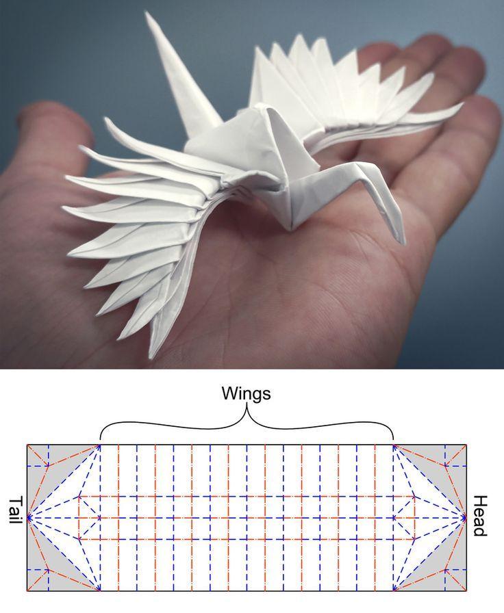 Gefiederter Tsuru CP #origamianleitungen