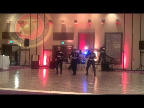 Sexy and I know it LMFAO Marines dance at ball - YouTube