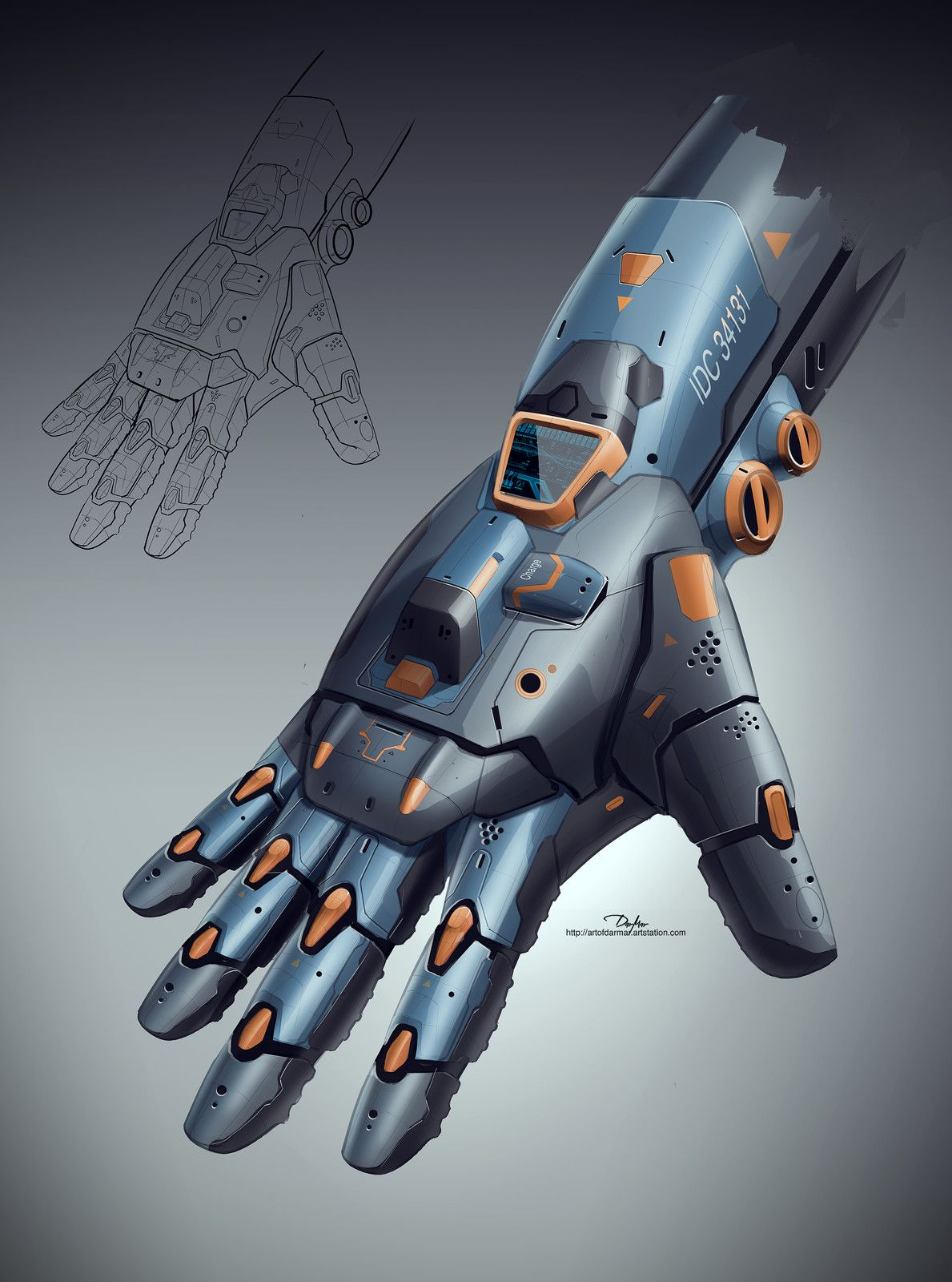 MECHANICAL ARMOR HAND 01, DARKO DARMAR MARKOVIC on