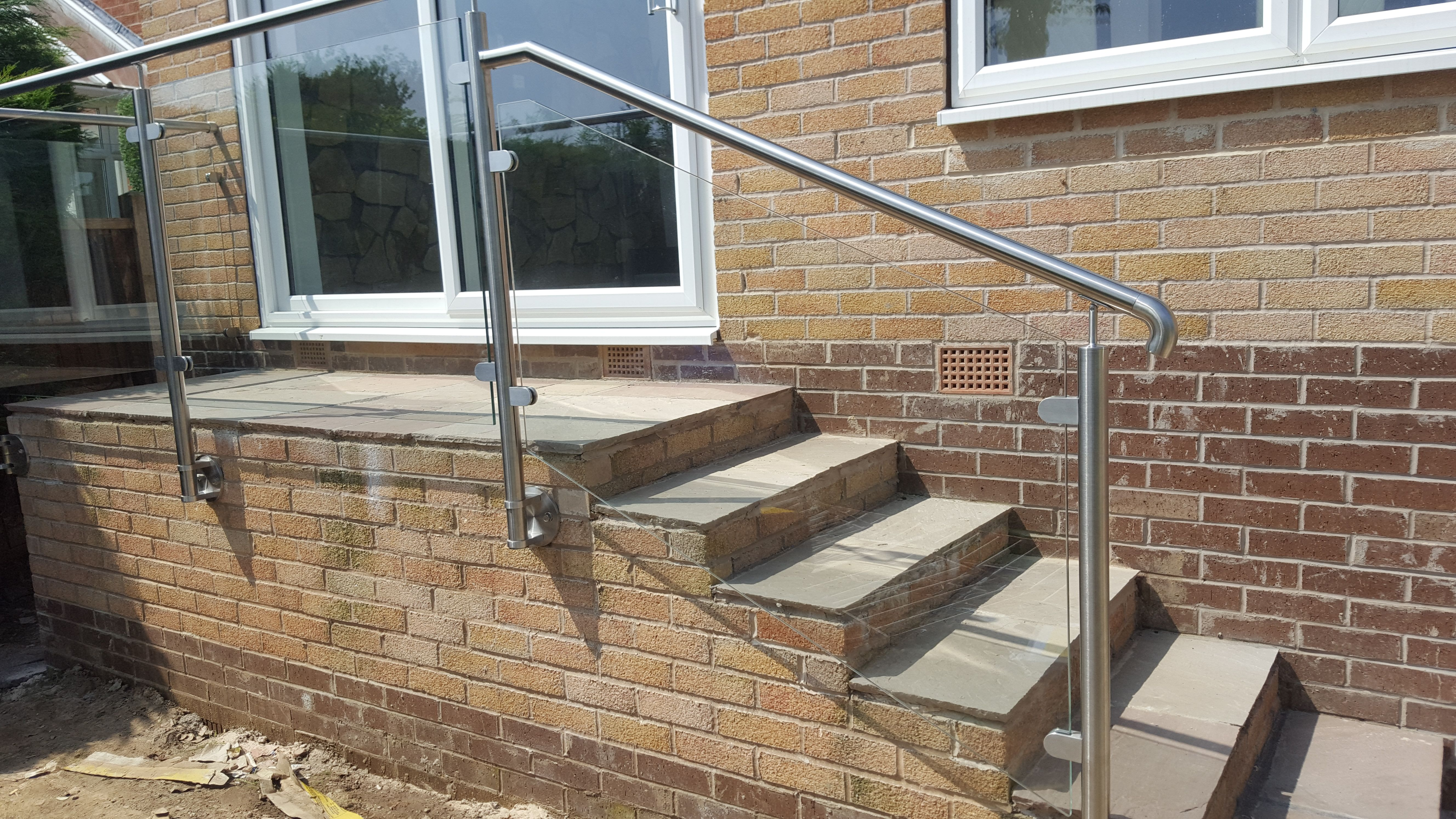 Stainless Steel And Glass Balustrade To Domestic Residence Sheffield