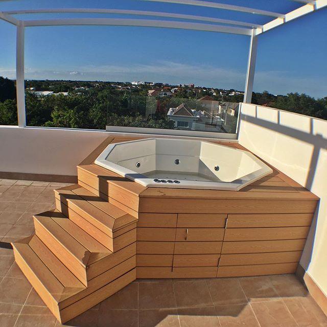 Jacuzzi Precios Espaa Stunning Precios Piscinas Piscinas Ofertas - Jacuzzi-exterior-terraza