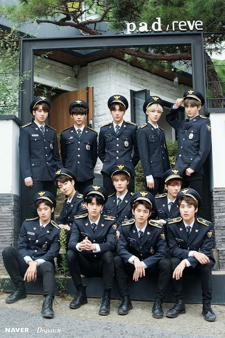 The Boyz Make A Group Of Hot Cops Kpop Guys Boy Idols Handsome Boys