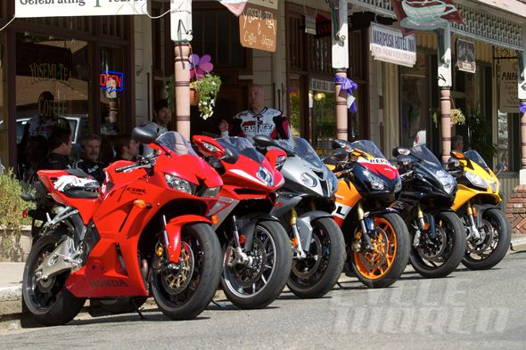 Sportbike Shootout Bikes Lined Up And Ready To Cruise California S