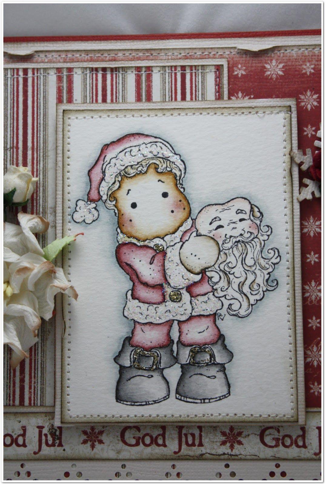 cute magnolia Santa card