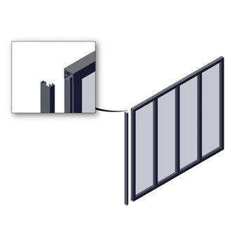 Poteau De Finition Pour Verrière En Kit Aluminium Gris