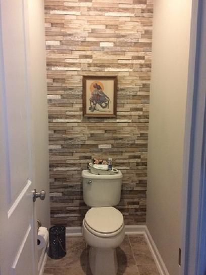 Barn Board Brown Thin Plank Wallpaper is part of Bathroom - This wood wallpaper will create the ultimate feature wall  The thin planks have a reclaimed, weathered look with a mixture of colors and textures  The warm brown and cream color palette is balanced with grey tones for a fresh style