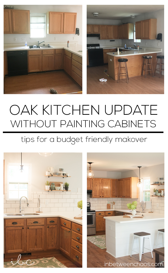 Updating A 90s Kitchen Without Painting Cabinets Budget Kitchen Remodel Kitchen Remodeling Projects Kitchen Design