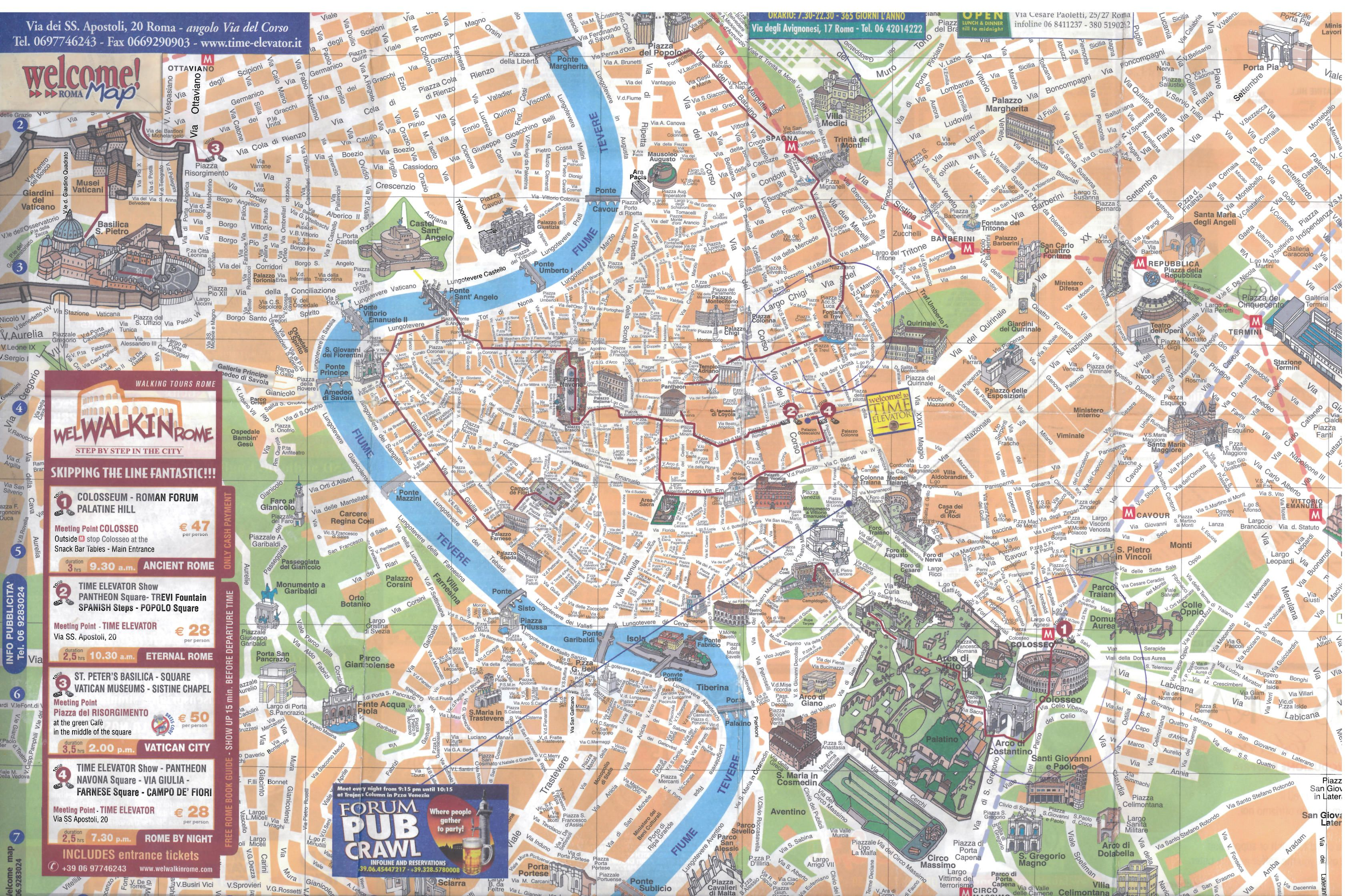 And a tourist map of Rome where Im headed postMilan Places Id