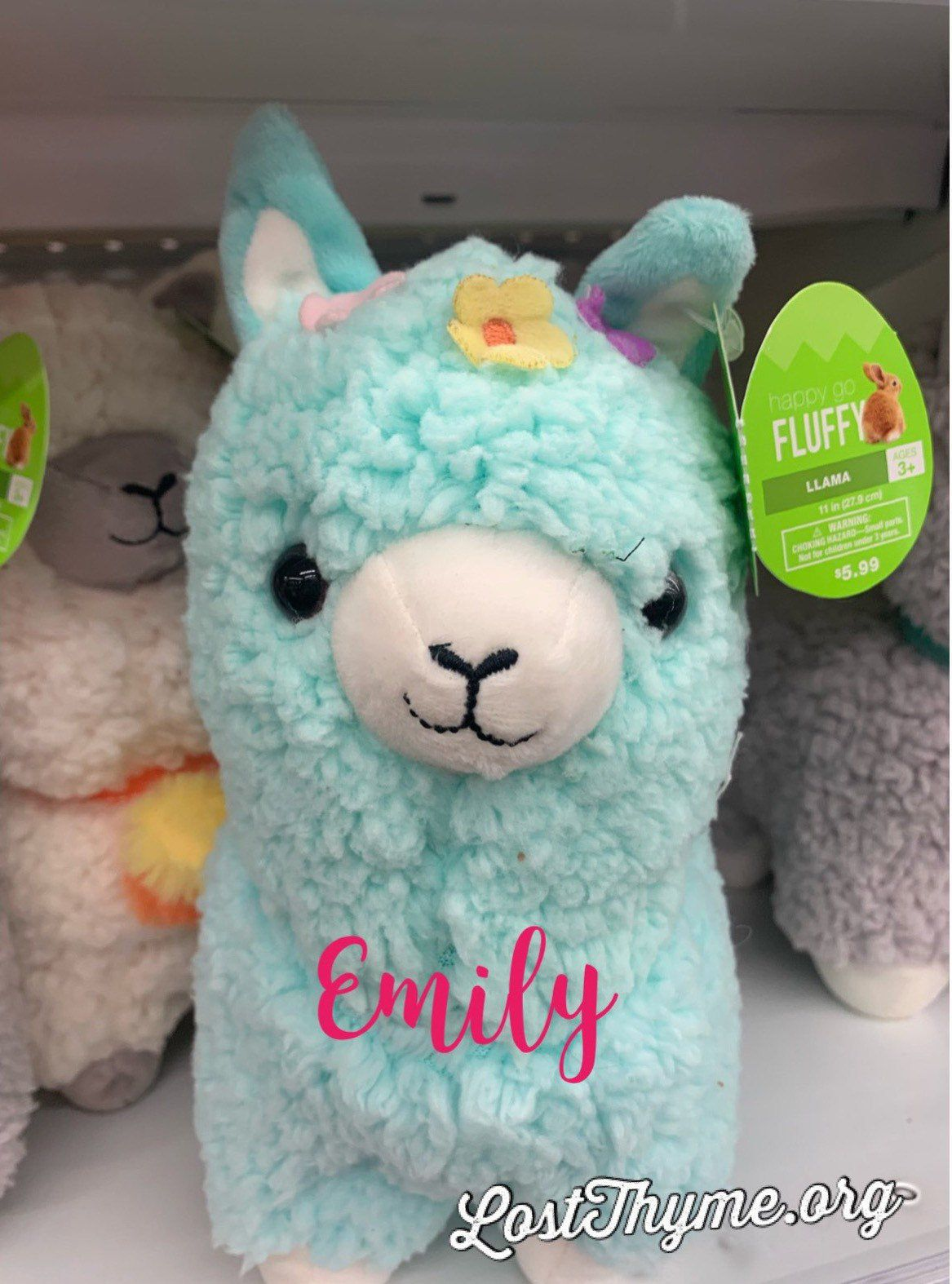 Personalized Easter Llama Plush Stuffed Animal in 2020