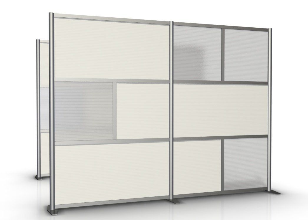 100 wide x 75 high Office Room Partition White Translucent