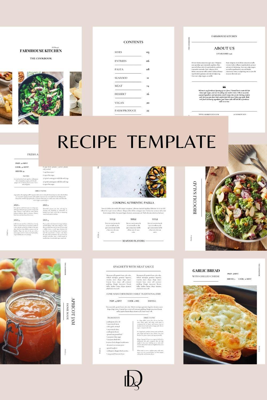 Editable Recipe Cookbook Template Canva Cookbook Template Etsy In 2021 Cookbook Template Cookbook Recipes Create A Recipe Cookbook table of contents template