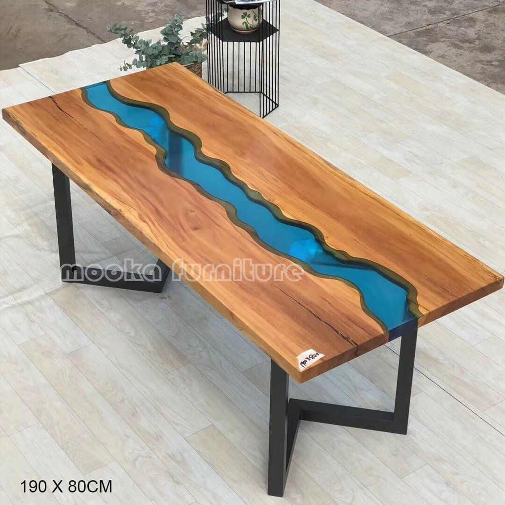 Mkrt 190617 Amazing Blue River Table Free Shipping In Europ Us Canada Table Home Decor Resin Table
