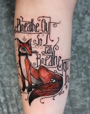 Brilliant David Hale tattoo with Foo Fighter song lyrics. Beyond beautiful.