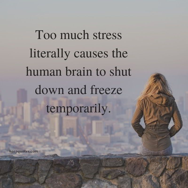 Too much stress literally quotes Slow to anger, Too much