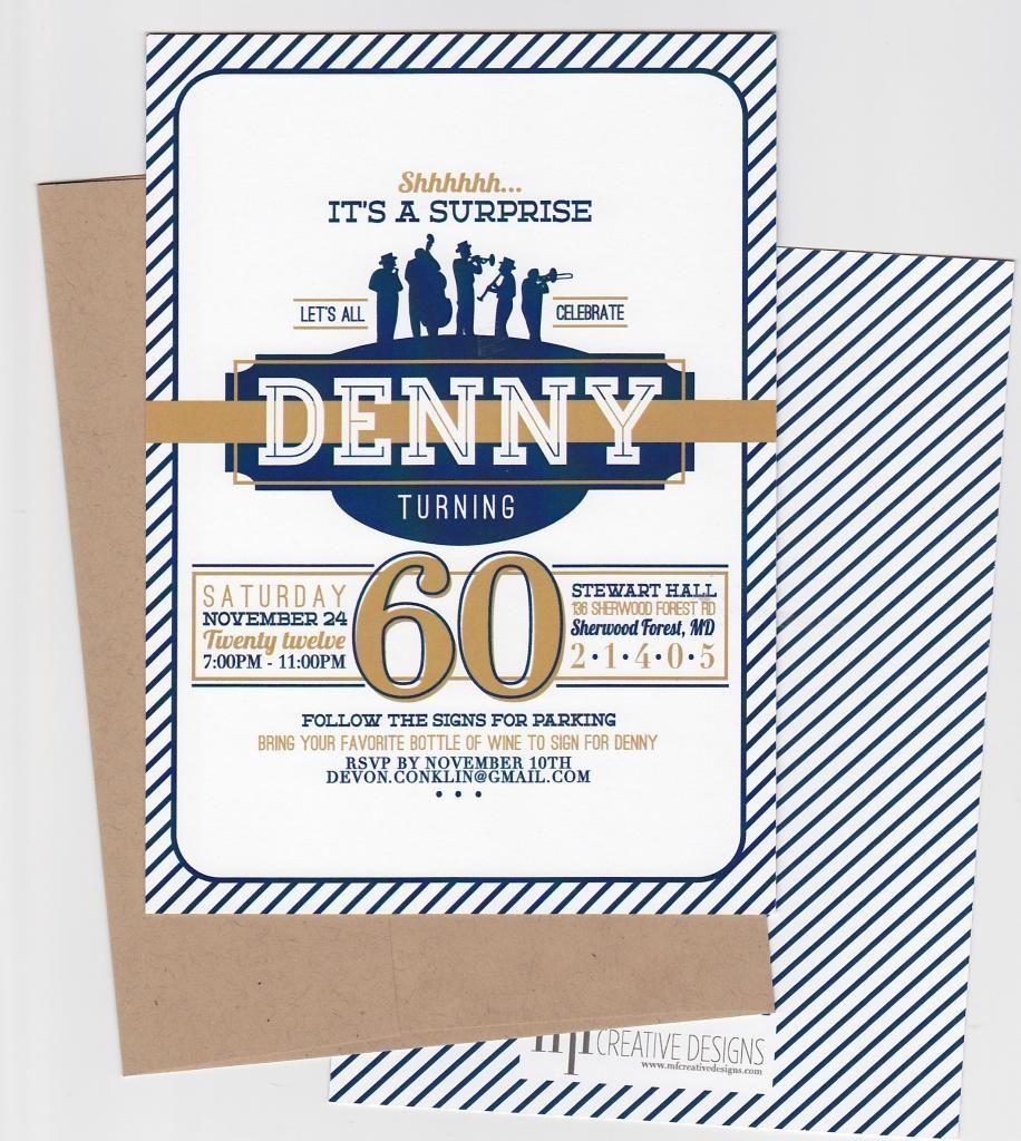 surprise 60th birthday invitations - Google Search | party invites ...