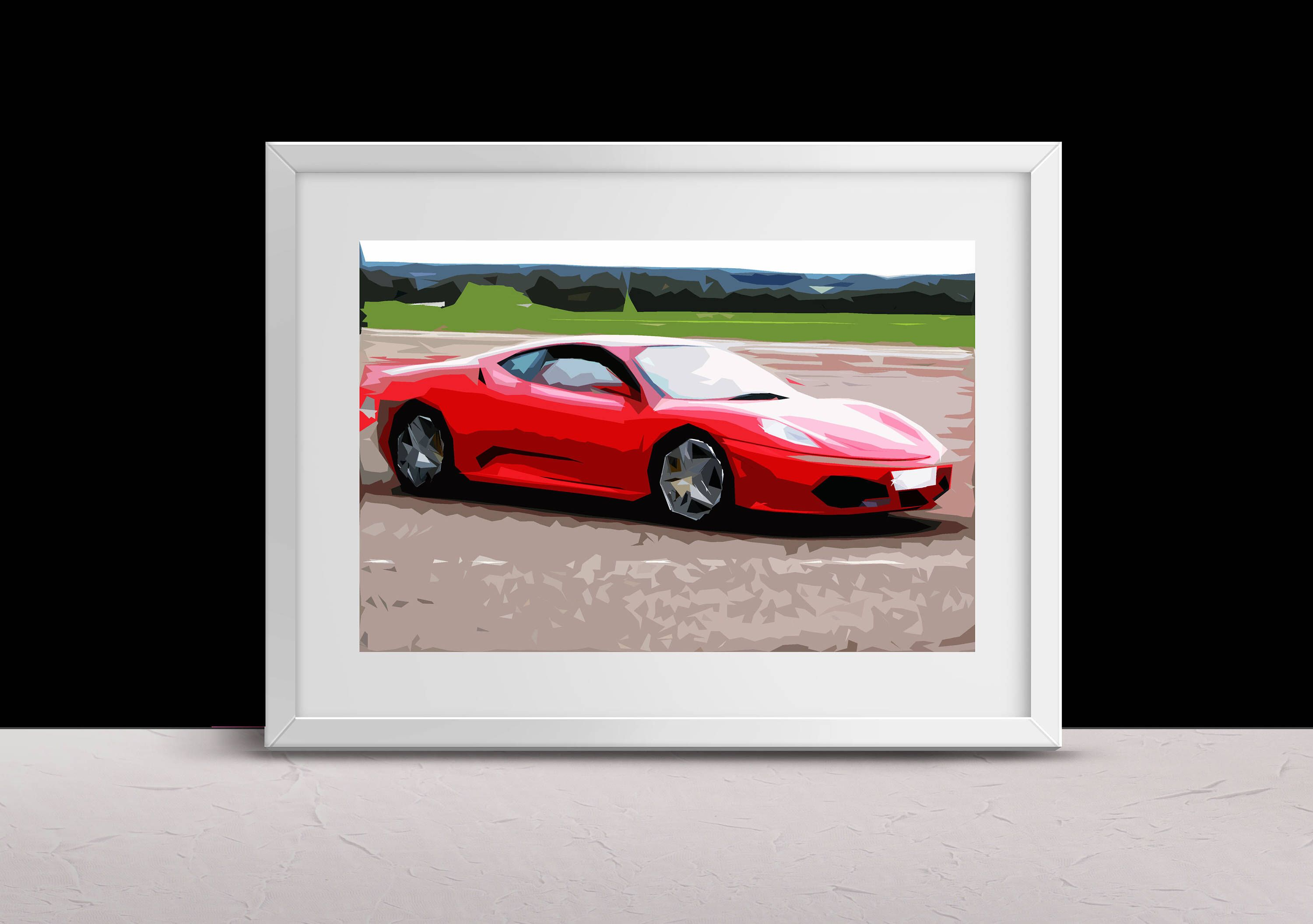 A Personal Favourite From My Etsy Shop Https Www Etsy Com Uk Listing 569394995 Red Ferrari Car Art Print Dad Gift Super With Images Car Art Art Prints Art