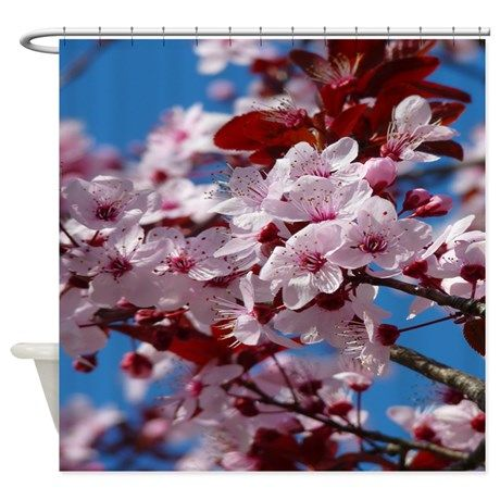 Almond Blossom Shower Curtain By Celestialtees Cafepress In 2021 Japanese Cherry Tree Sakura Cherry Blossom Almond Blossom